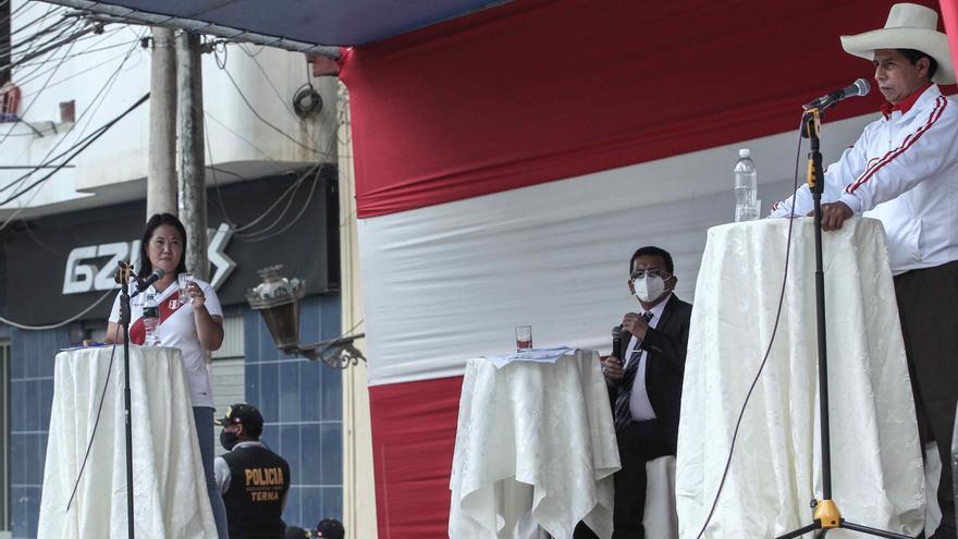 Castillo y Fujimori se citan para debatir en Arequipa, en el sur de Perú