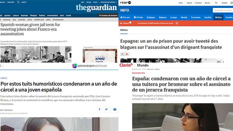 La condena a Cassandra, en varios medios internacionales