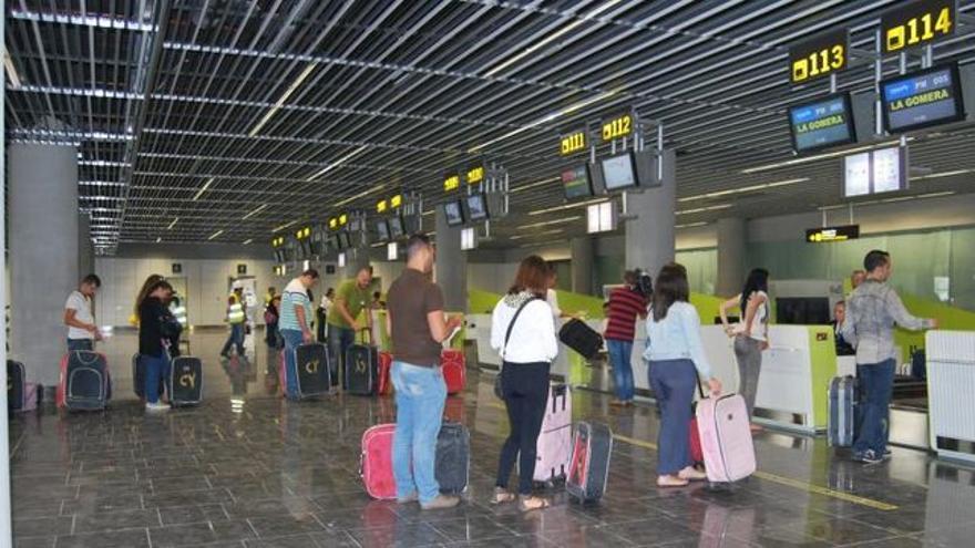 Imagen de archivo con zona de facturación en el aeródromo de Gran Canaria