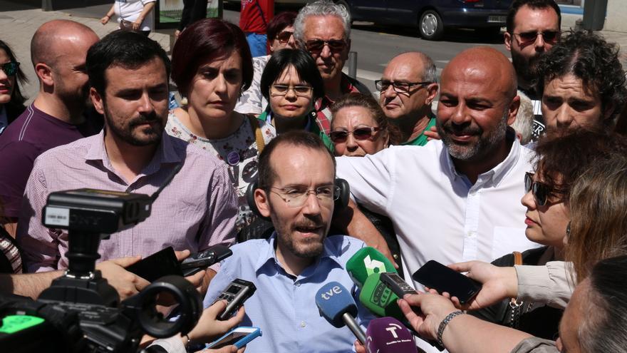 Pablo Echenique y Alberto Garzón, hoy, en Ciudad Real