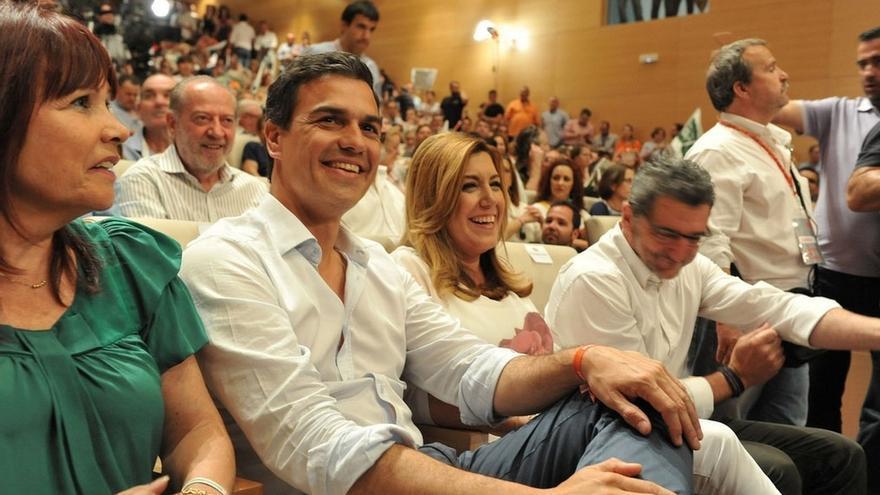 """Susana Díaz niega distanciamiento con Sánchez y atribuye los comentarios a """"un ruido"""" creado por el PP"""