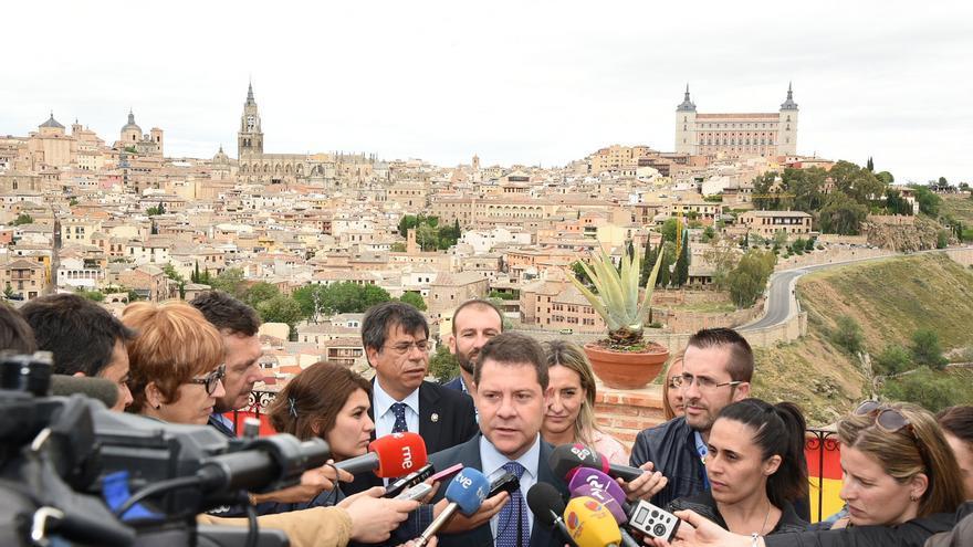 Emiliano García-Page, el 1 de mayo