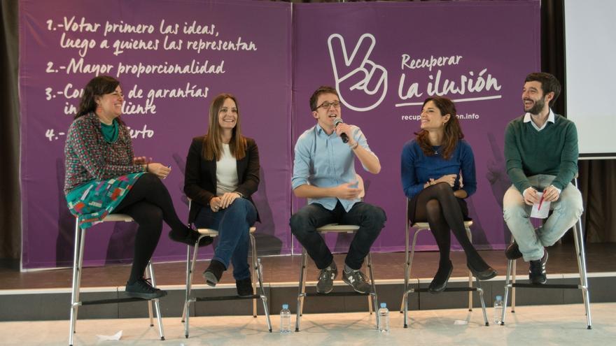 "Errejón presenta su proyecto para un Podemos ""democrático"" e ""integrador"" frente a ""fórmulas del pasado"" de Iglesias"