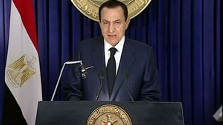 Hosni Mubarak, en el discurso televisado.