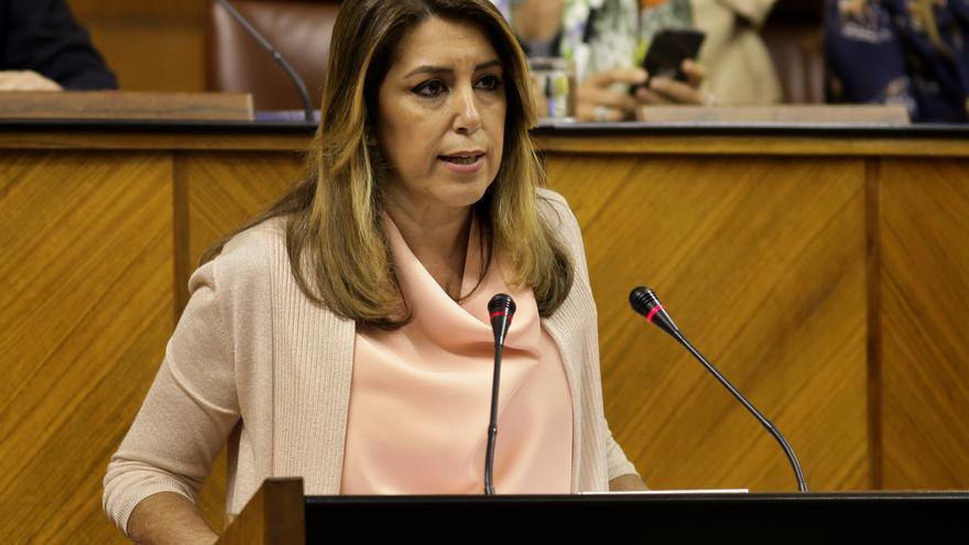 Susana Díaz comparece en el Parlamento.