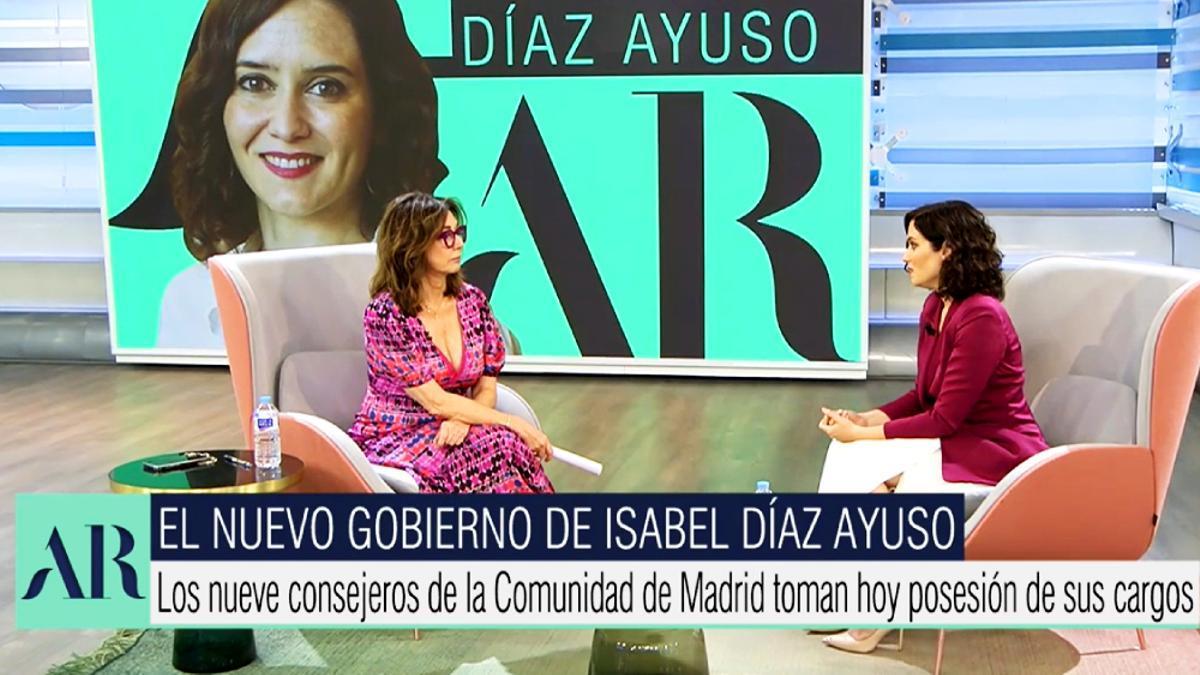 Isabel Díaz Ayuso, entrevistada por Ana Rosa