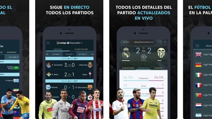 Imagen promocional de la 'app' de la Liga.