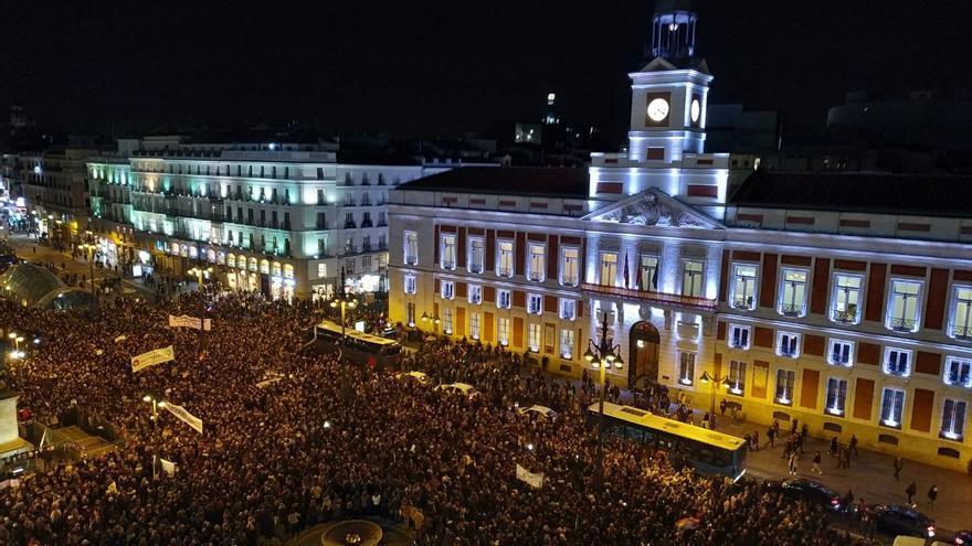 Concentración feminista en la Puerta del Sol, Madrid  /foto: Cristina Pozo