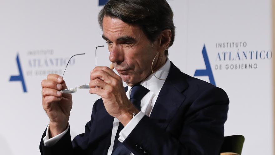Archivo - El expresidente del Gobierno José María Aznar en un acto del Instituto Atlántico de Gobierno (IAG) que él preside.
