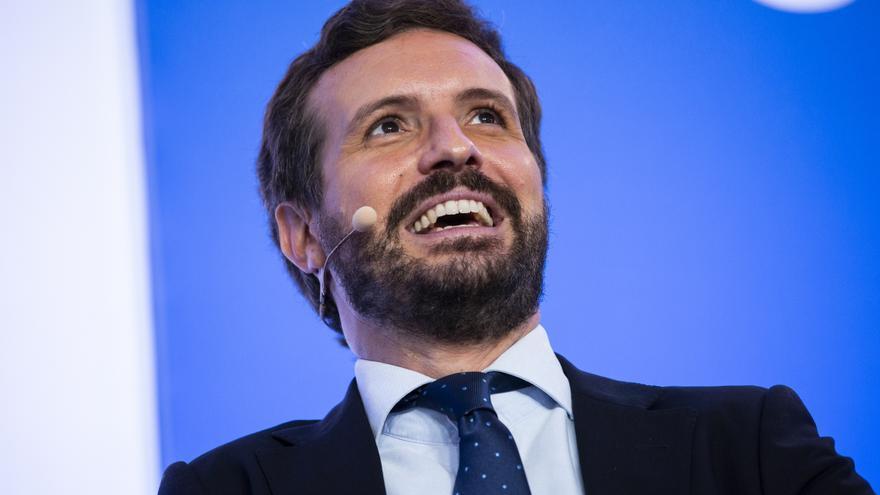 Pablo Casado en los cursos de verano de la Complutense el 8 de julio.