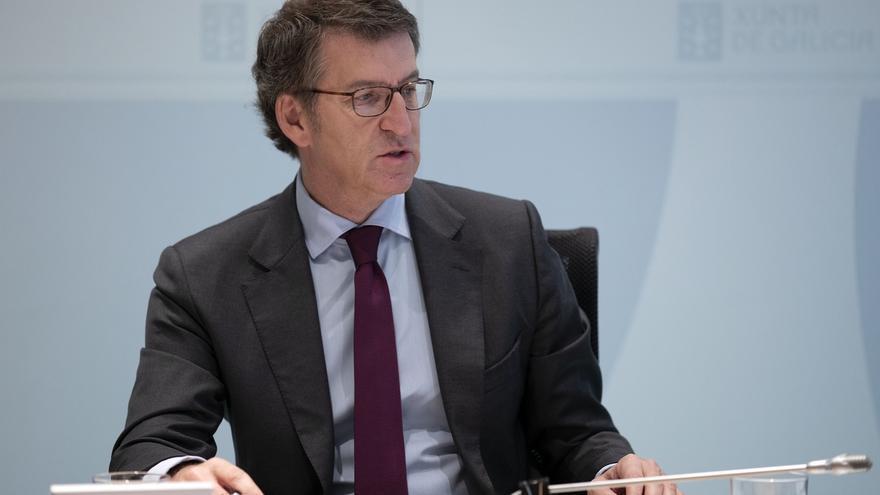 """Feijóo, sobre si acompasará las elecciones con Euskadi: """"Vamos a intentar seguir trabajando con independencia del ruido"""""""