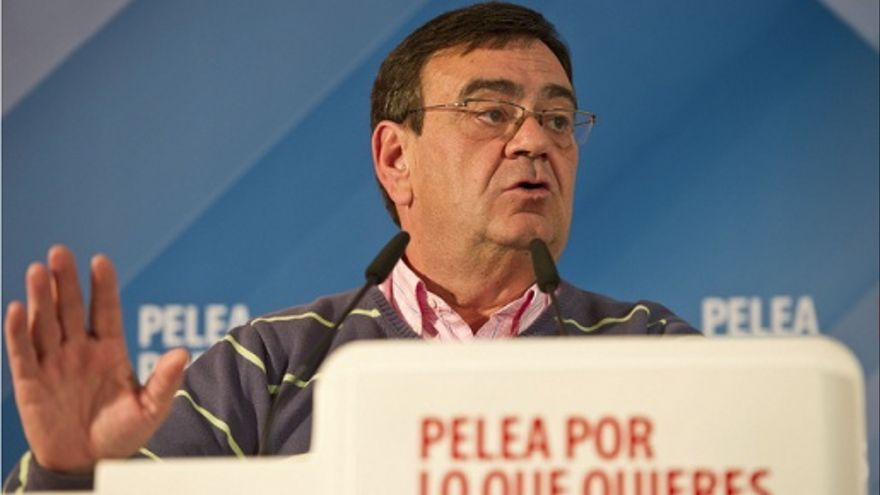 Miguel Ángel González Vega durante un mitin electoral del PSOE de Cantabria.