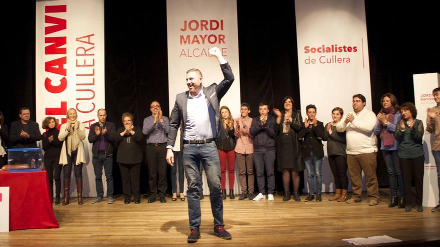 Jordi Mayor, en un acto de los socialistas en Cullera.