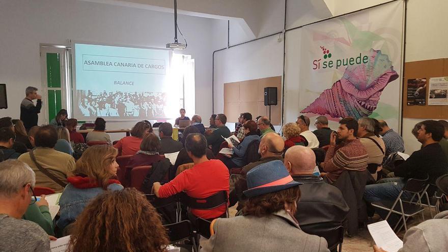 Militantes, simpatizantes y cargos públicos presentes en la convocatoria realizada en Miraflores