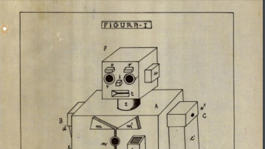 El muñeco integraría un gramófono o un altavoz para llamar la atención