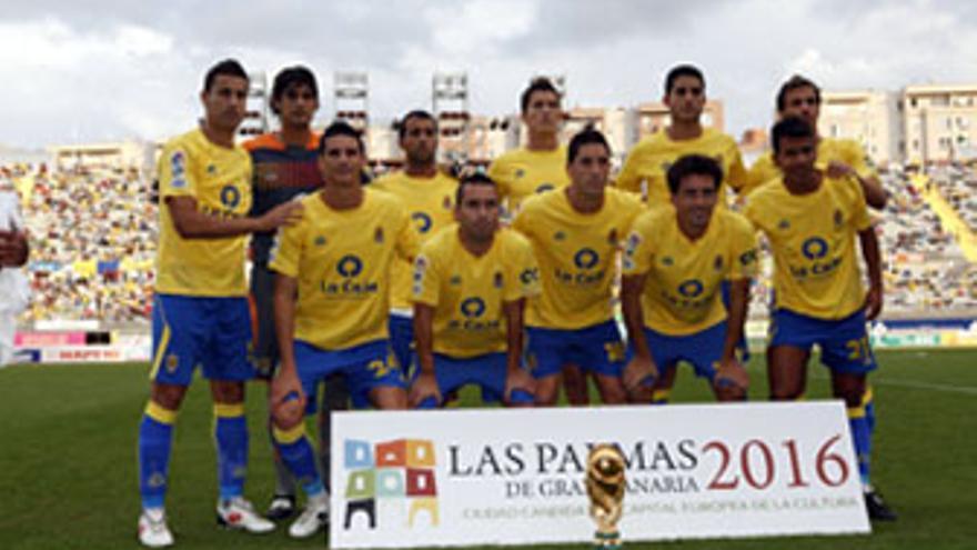 Alineación titular de la UD Las Palmas en el último encuentro de Liga ante el Xerez. (ACFI PRESS)