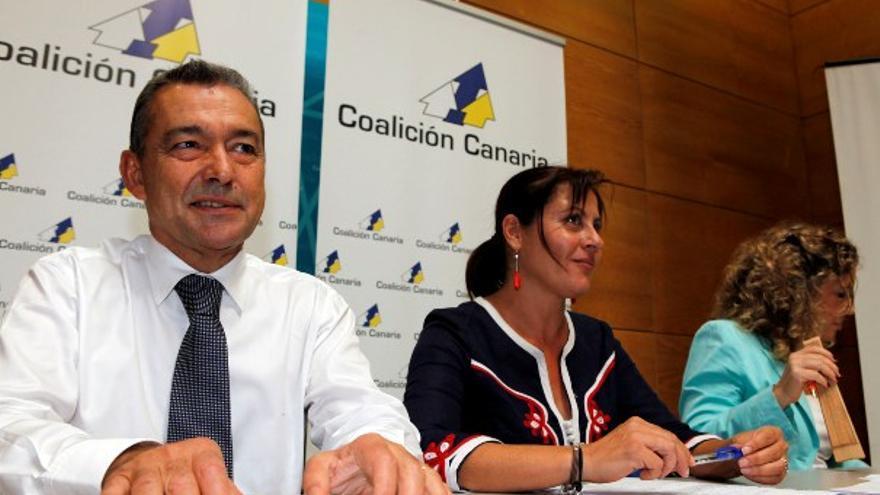 Rivero, junto a Claudina Morales y María del Mar Julios en la Ejecutiva de CC del sábado. (ACFI PRESS)