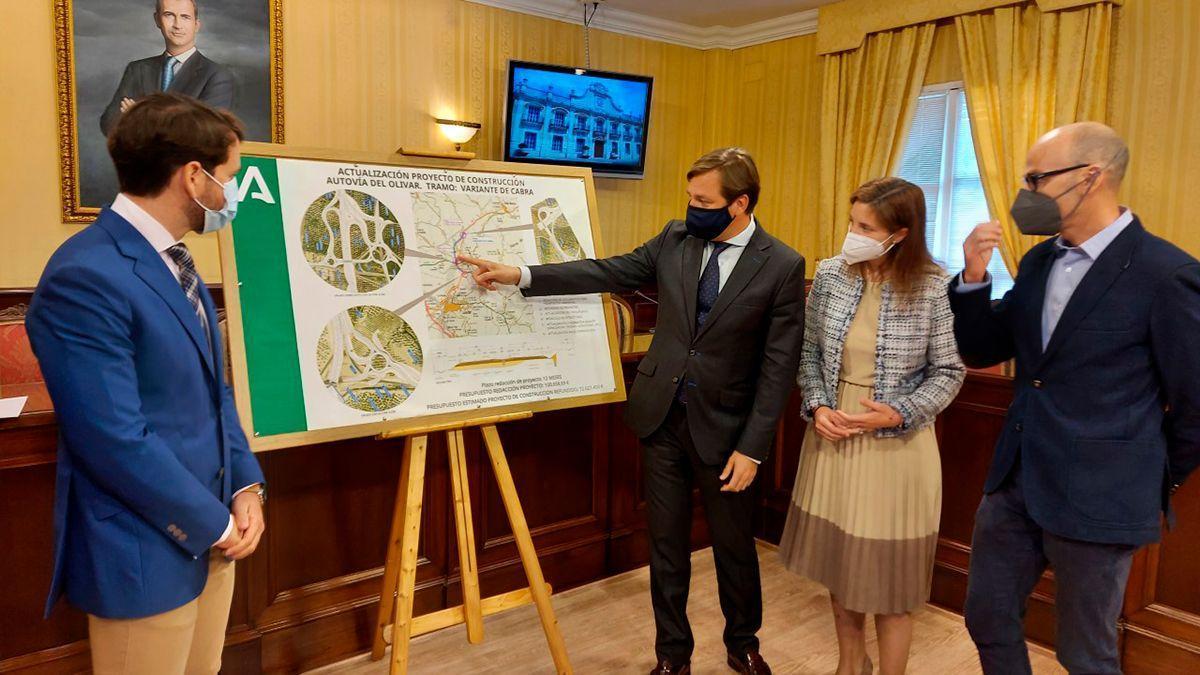 Presentación de la licitación del tramo de la Autovía del Olivar en Cabra.