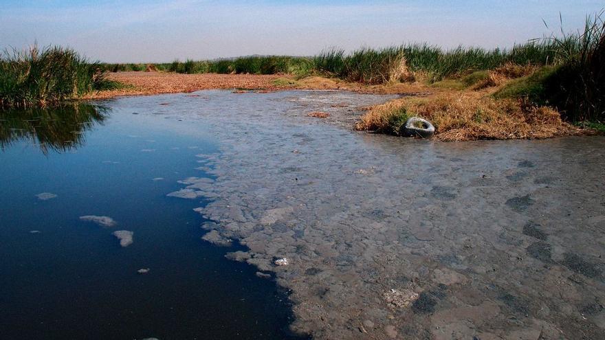 La presa natural de El Ahogado almacena 8 millones de metros cúbicos de aguas negras producidas en todo el sur de la Zona Metropolitana de Guadalajara