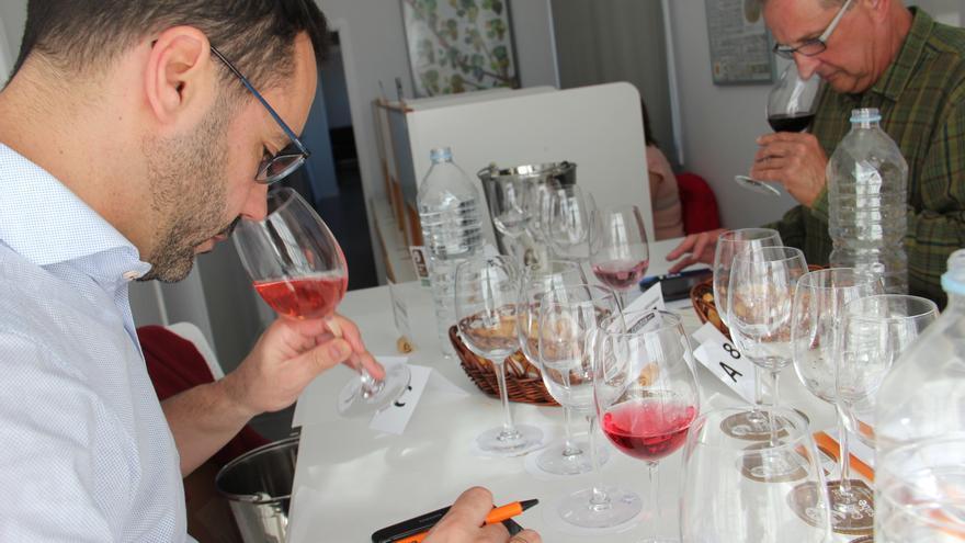 Cata en Tenerife del Concurso Oficial de Vinos Agrocanarias.