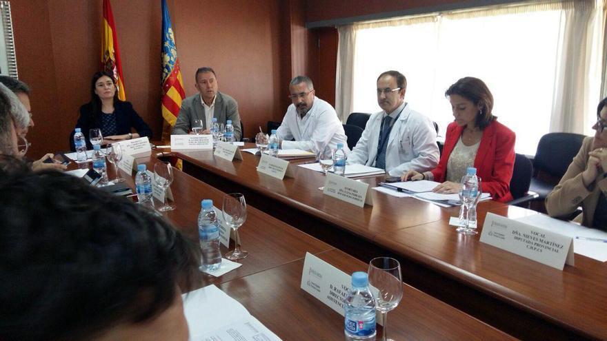 La consellera de Sanidad, Carmen Monón, presiden la reunión del Consorcio Hospitalario Provincial de Castellón