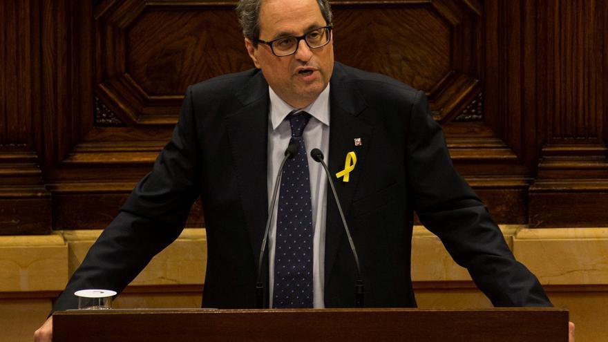 El president Quim Torra, durante su discurso de investidura