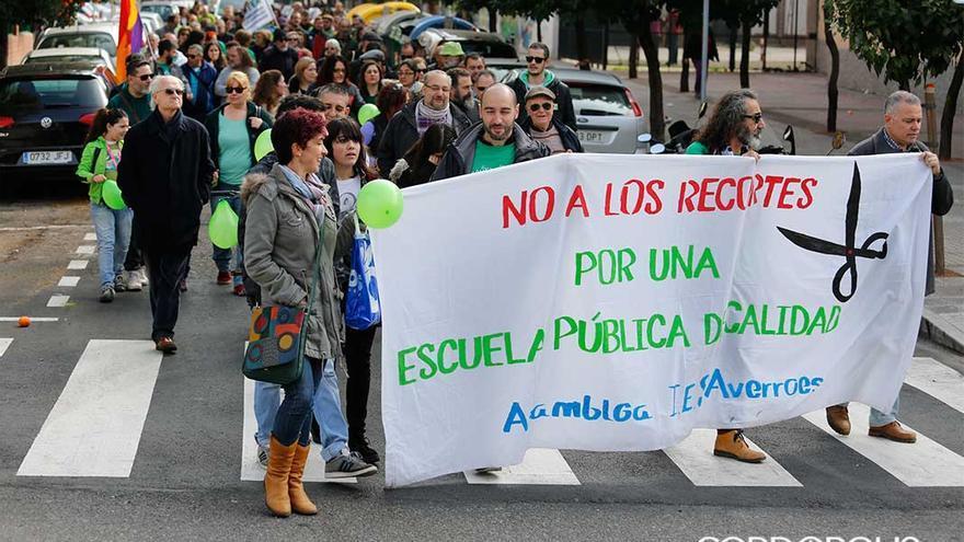 Manifestación en favor de la educación pública | ÁLEX GALLEGOS