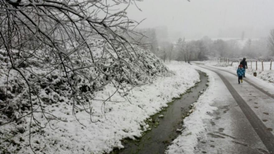 Activado el aviso por nieve por encima de los 800 metros para este viernes y sábado