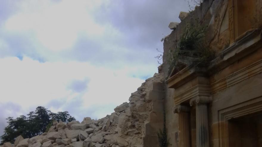 La torre de Galarreta derrumbada (Álava)