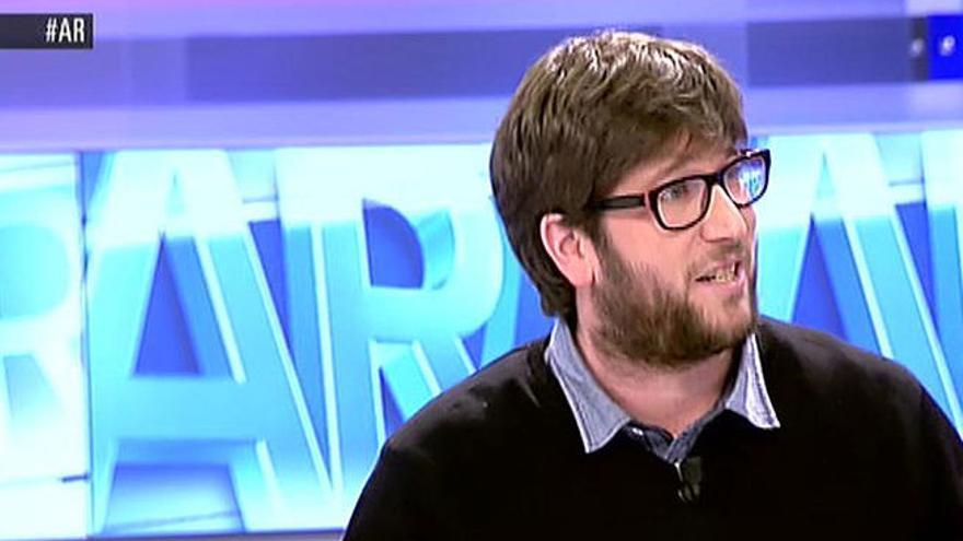 Miguel Urban durante una intervención en el programa de Ana Rosa