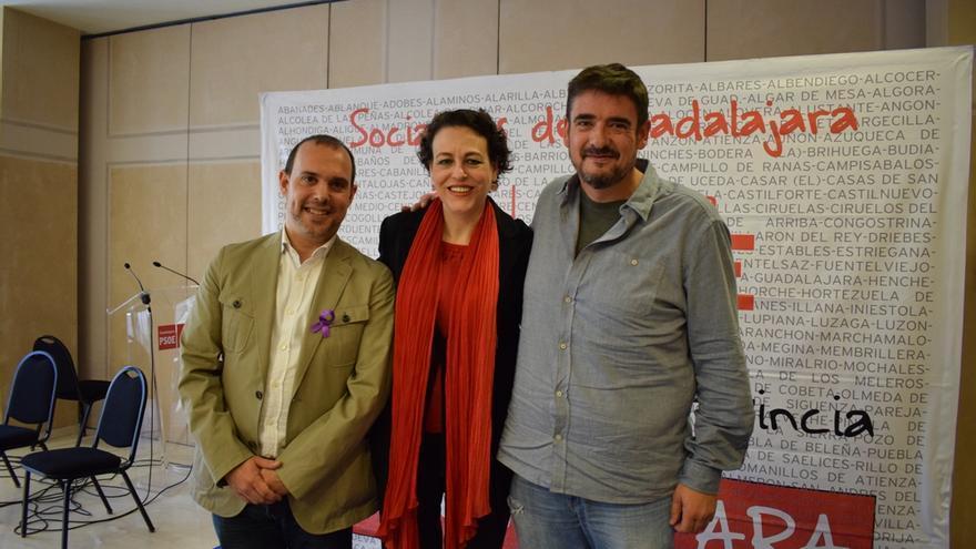 Pablo Bellido, Magdalena Valerio y Rafael Esteban
