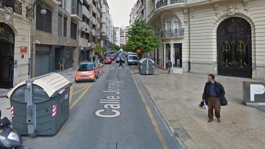 Estado actual de la calle Jorge Juan