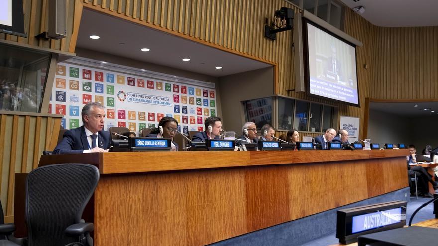 El representante de España en el HLPF de la ONU anima a seguir el ejemplo de Euskadi en la emisión de bonos sostenibles
