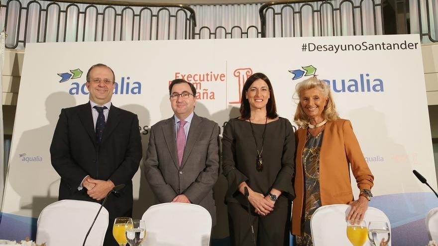 Gema Igual durante su participación en octubre en un foro organizado por Aqualia en Madrid.