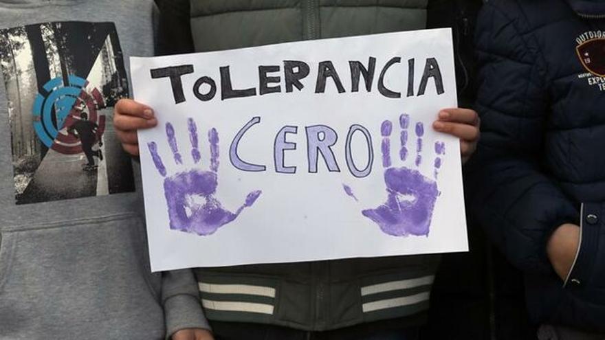Imagen de una manifestación contra la violencia machista.