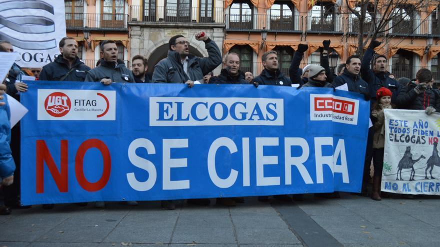 Manifestación contra el cierre de Elcogás, Toledo 29/12/14 / Foto: Javier Robla