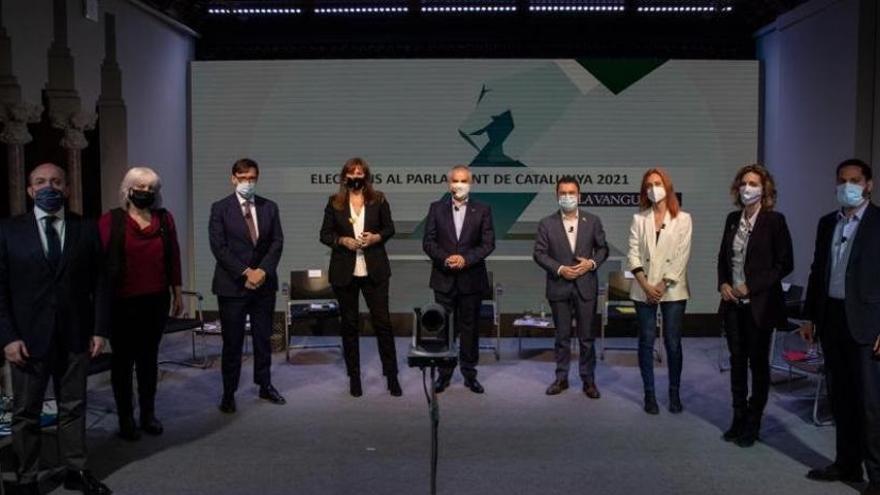 Los partidos mantienen sus líneas rojas sobre pactos postelectorales en el segundo debate del 14F