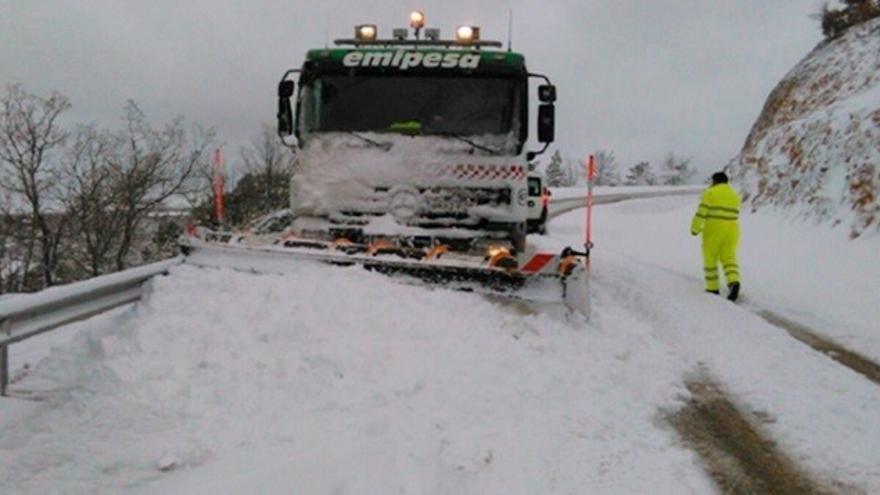 El 112 de C-LM registra 47 incidencias por nieve en Albacete y 18 en Cuenca