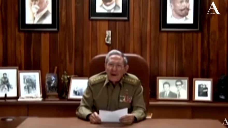 Raúl Castro, mientras anunciaba la muerte de Fidel Castro