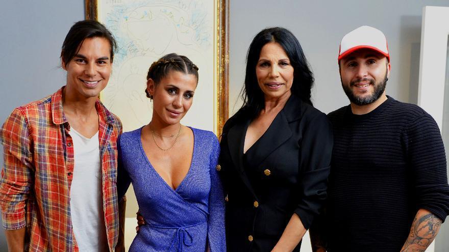 """Elena Tablada, Kiko Rivera, Julio Iglesias Jr y Toñi Salazar, en el """"Ven a cenar conmigo Gourmet Edition"""""""