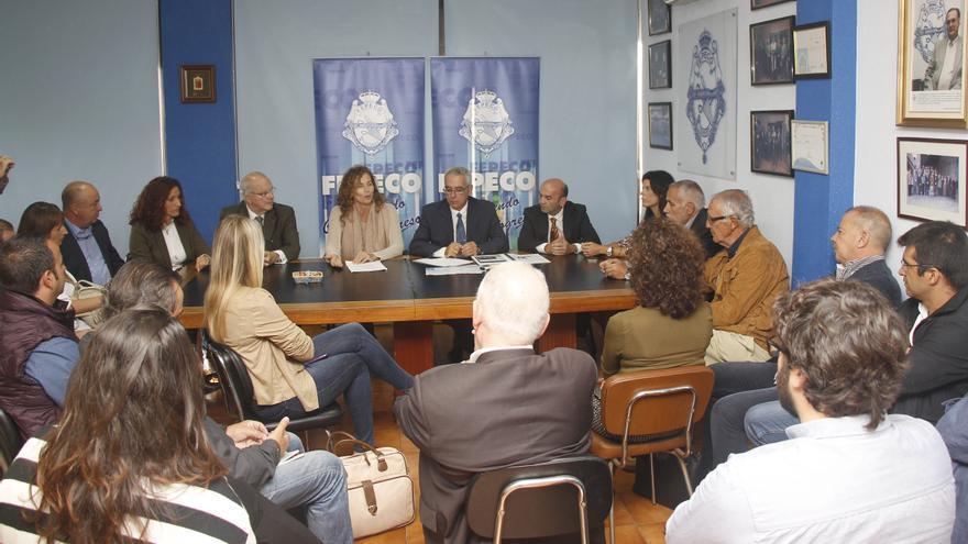 Reunión de empresarios y directivos de Fepeco con la consejera Ornella Chacón