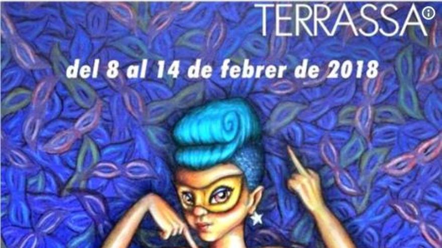 Cartel del carnaval de Terrasa 2018.