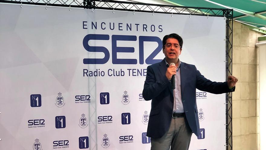 Pedro Martín, en la intervención de este jueves en el Casino de Tenerife