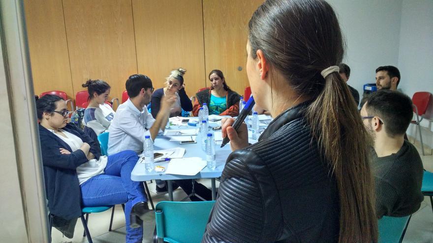 Reunión en el Consejo Andaluz de la Juventud.