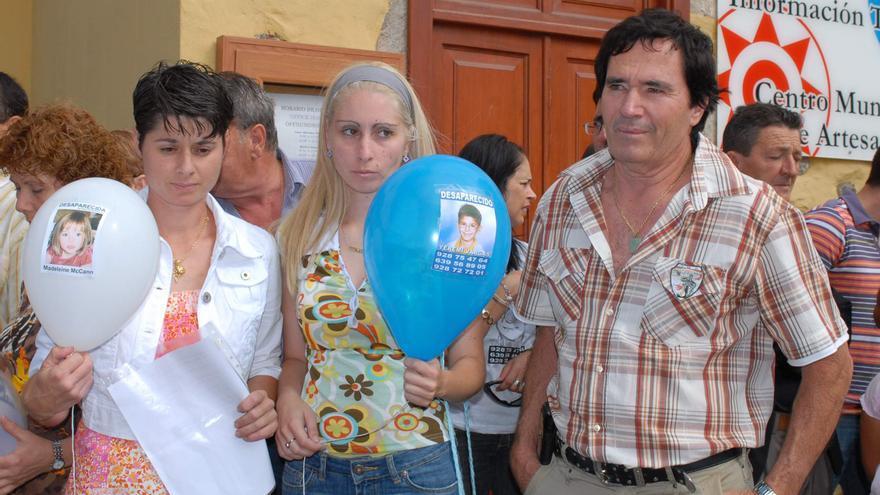 Los familiares de Yéremi Vargas en una concetración por la desaparición del niño