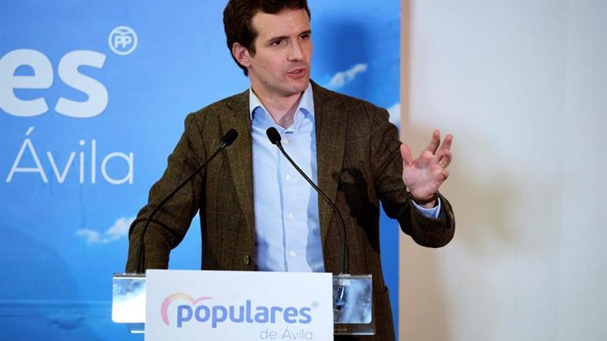 Casado dice que Sánchez tiene ya pactada la autodeterminación de cara al 28A