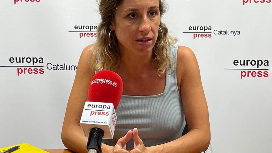 La diputada de la CUP en el Parlament Laia Estrada