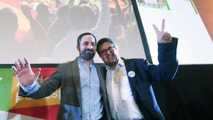 Santiago Abascal y Francisco Serrano en una imagen de archivo