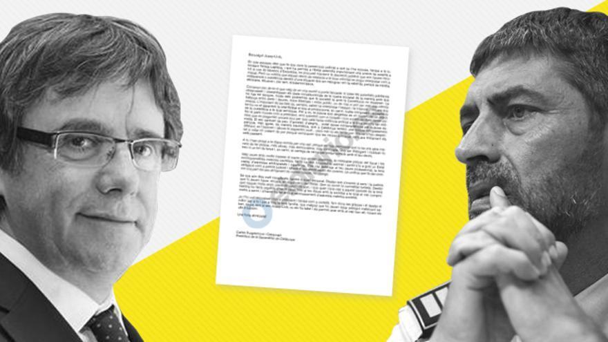 La carta de Puigdemont está escrita en un tono personal y de agradecimiento a Trapero