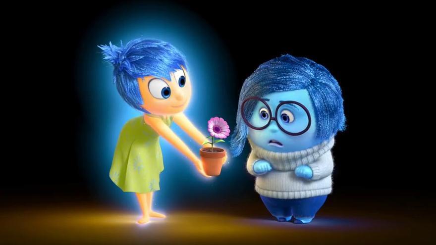 'Alegría' y 'Tristeza', las dos protagonistas cuyos sentimientos antepuestos centran el argumento de la cinta.